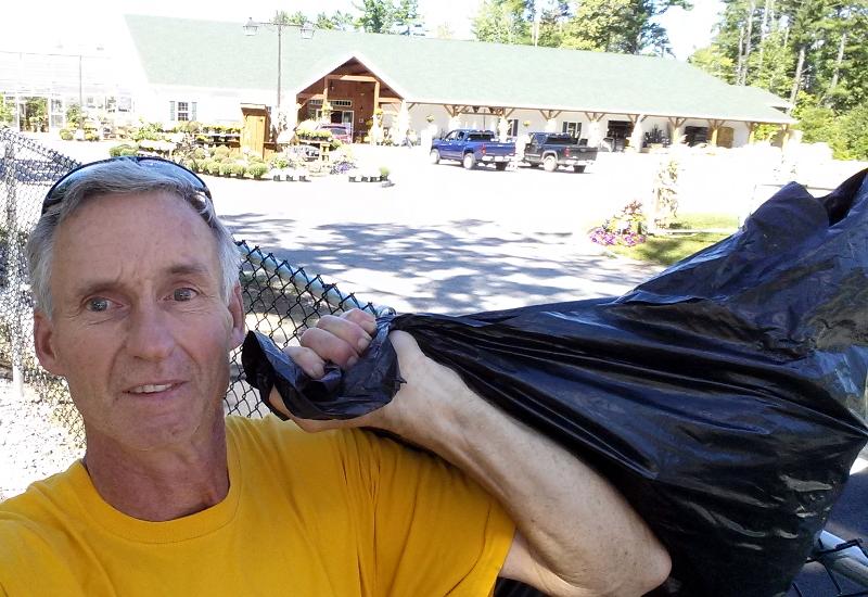 Osborn's Agway trail head, trail litter collected.