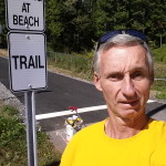 Trail head at Leslie Roberts Beach end.