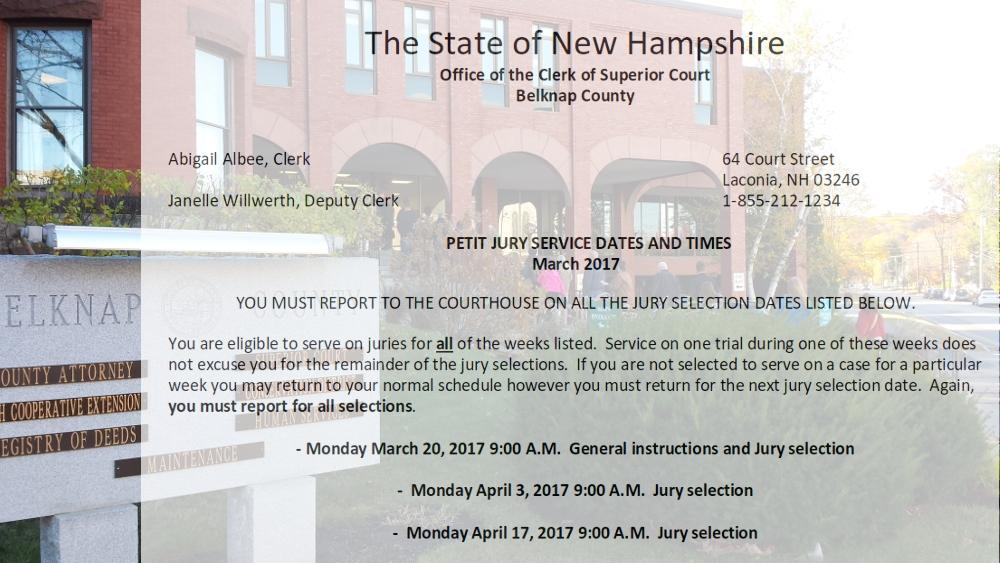 March 2017 Jury Notice