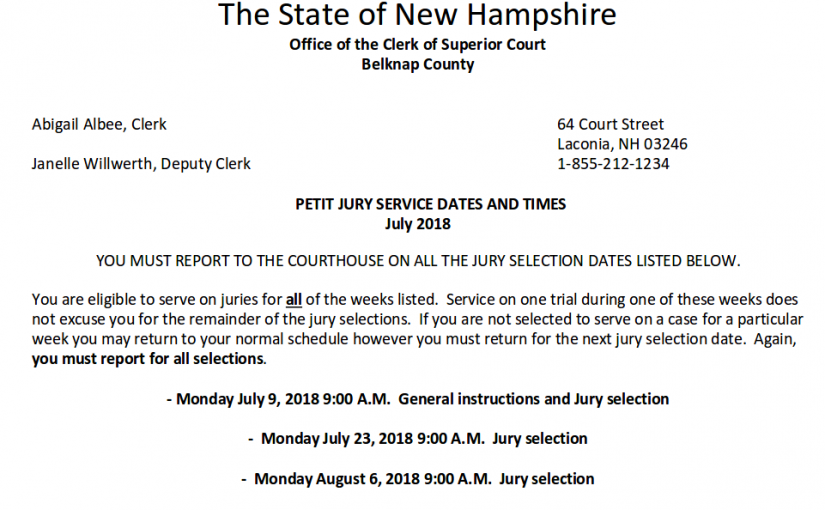 August Jury